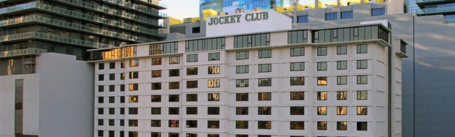 Exterior of Jockey Club